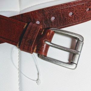 Leather belt, caramel to reddish brown, 30-34""